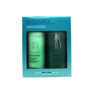 Biotherm Biosource Present Set For Normal Skin 400ml Hydrating and Tonifying Toner + 400ml Make Up Removing Milk