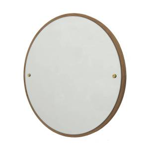 Frama Circle Spegel M, Ek/Mässing