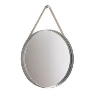 Hay Strap Mirror Ø70 cm, Grå