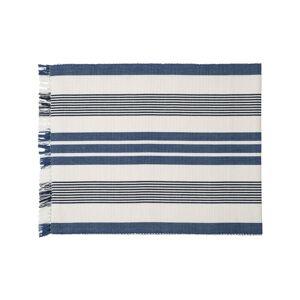Lexington Striped Fringe Löpare 50x250, Vit/Blå