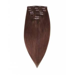Rapunzel Of Sweden 50 cm Clip-On Set Original 7 pieces Hair Extensions Coffee