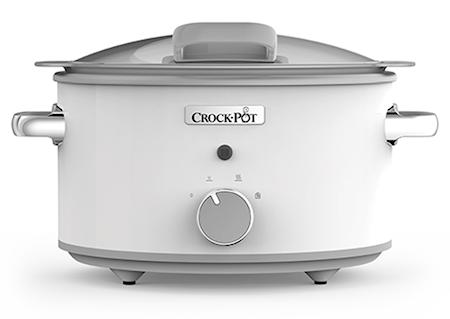 Crock-Pot Slowcooker 4,5 L DuraCeramic Manuell Vit Crock-Pot