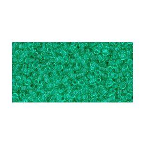 TOHO seed beads - Transparent Beach Glass Green 15/0, 10gram