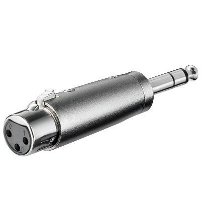 XLR ljud adapter 3-stifts XLR jack - 6,35mm stereo kontakt