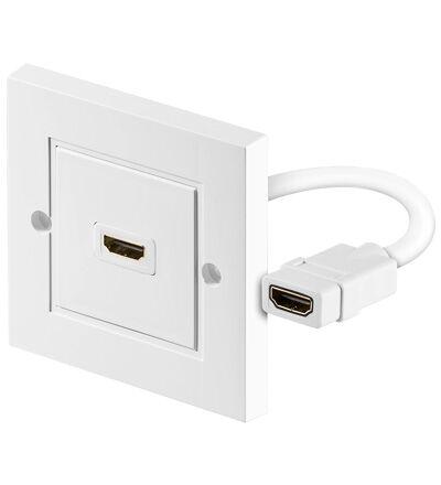 HDMI väggkontakt med1x HDMI koppling (stödjer 3D, 4K och HDCP)