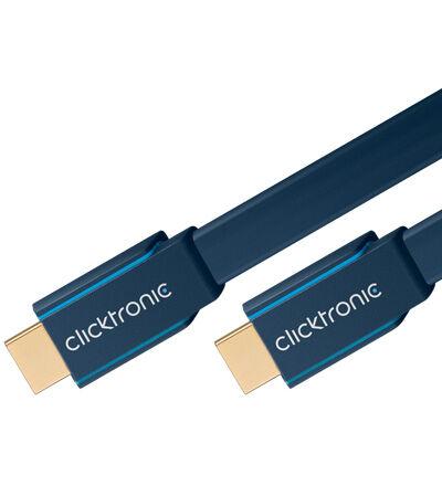 ClickTronic 1m Platt HDMI kabel
