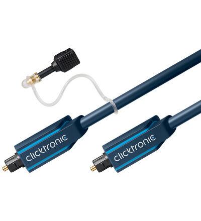 ClickTronic 0,5m Toslink (Optisk) kabel med 3,5mm kabel