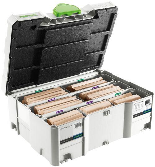 Festool DS/XL D12/D14 BU DOMINO Systainer bok, 128 stycken