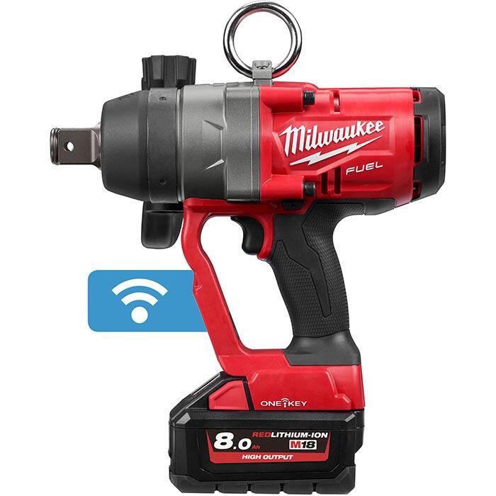 Milwaukee ONE FHIWF1-802X Mutterknackare med 8,0 Ah batterier och laddare