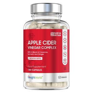Äppelcidervinäger 1027 mg 180 kapslar för 3 mån - Äppelcidervinäger diet tillskott - Naturligt tillskott för viktkontroll