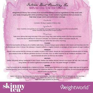 WeightWorld Örtte Skinny Tea - 28 dagars Detox- och viktminskningste för morgon & kväll  - Ett hälsosamt alternativ till kaffe - Weight Loss Tea - 2 pack