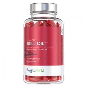 WeightWorld Antarktisk Krillolja - 500 mg - Naturliga Omega 3 kapslar med ren & hållbart utvunnen antarctic krill oil