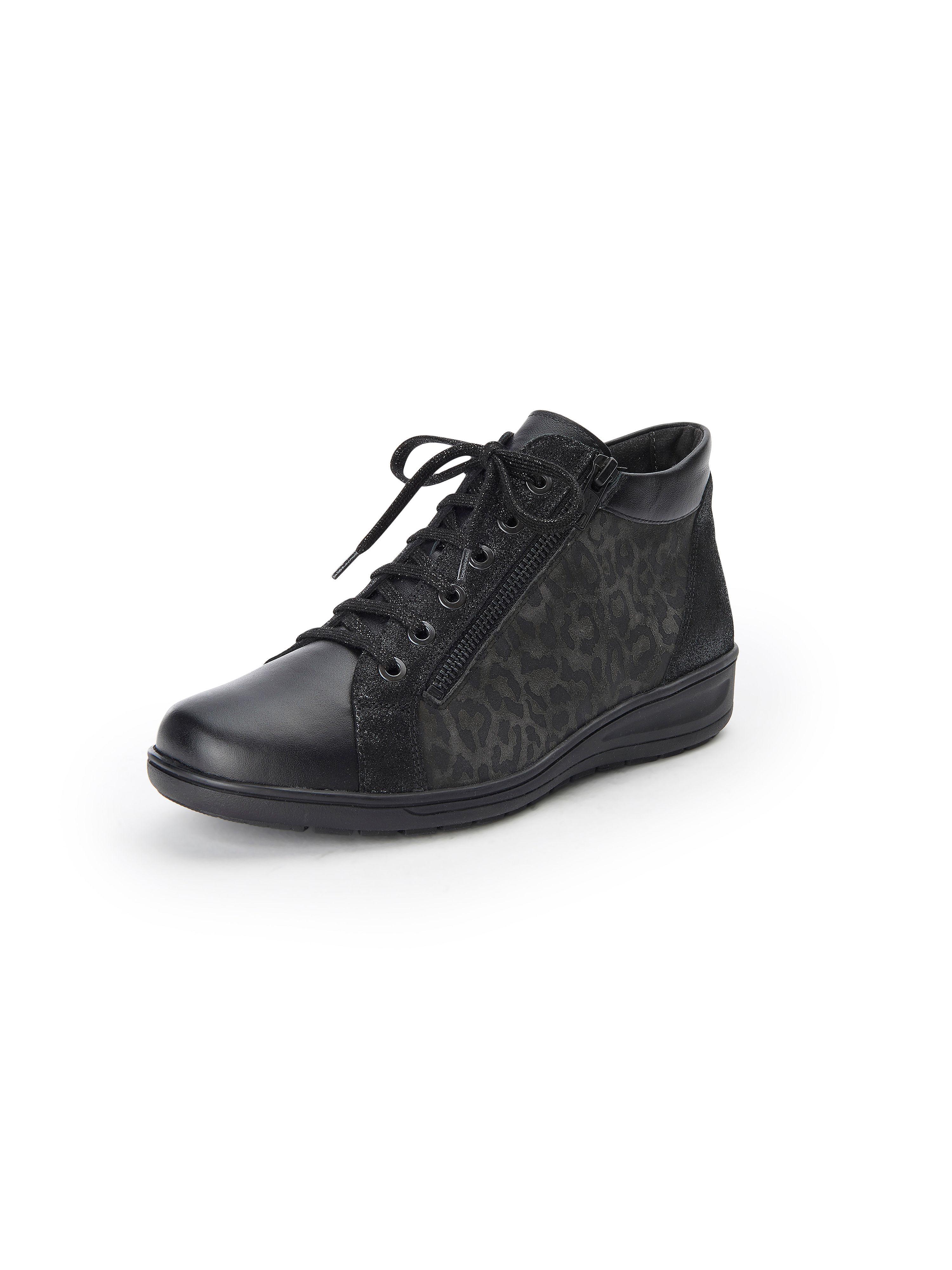 Solidus Ankelhöga sneakers för kvinnor, modell Kate från Solidus svart