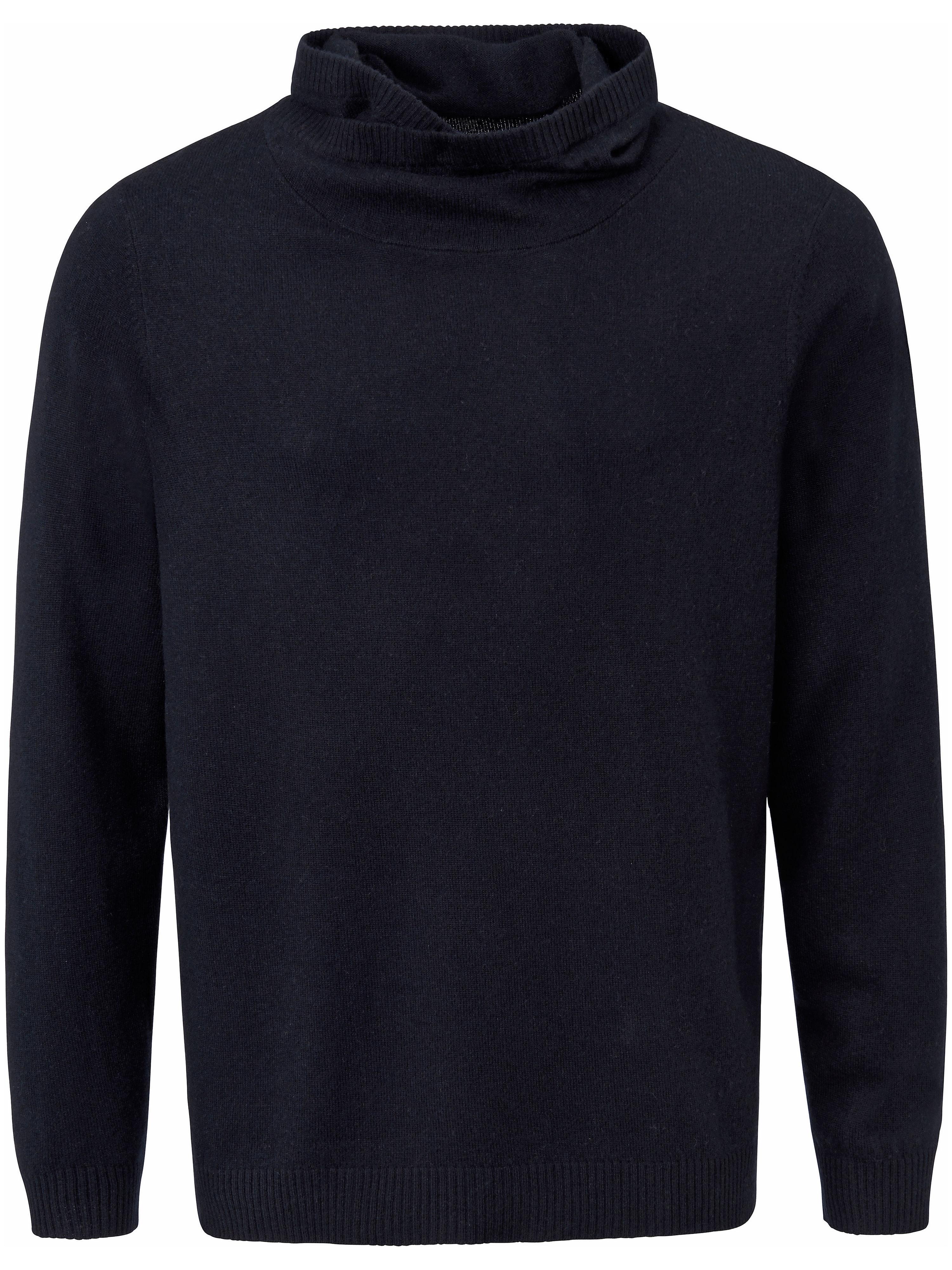 Louis Sayn Stickad tröja vid polokrage från Louis Sayn blå