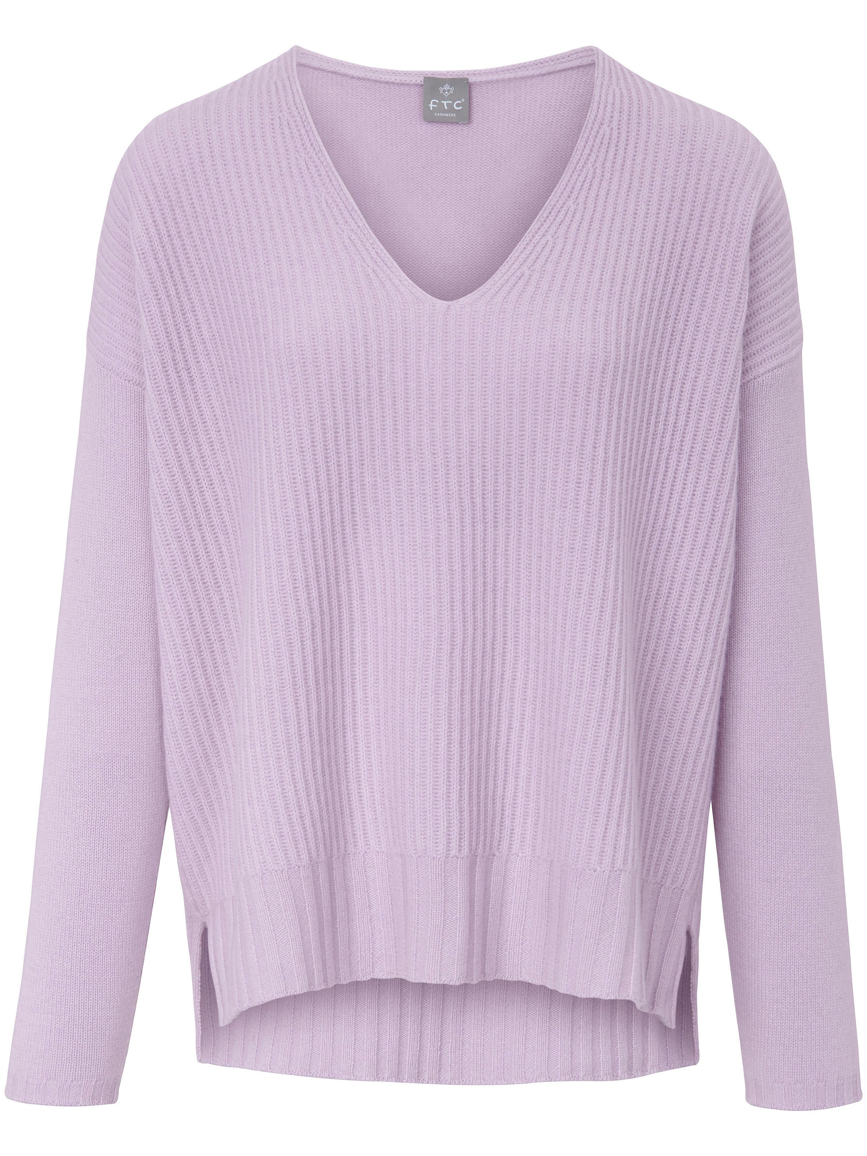 FTC Cashmere V-ringad tröja i 100% kashmir från FTC Cashmere lila