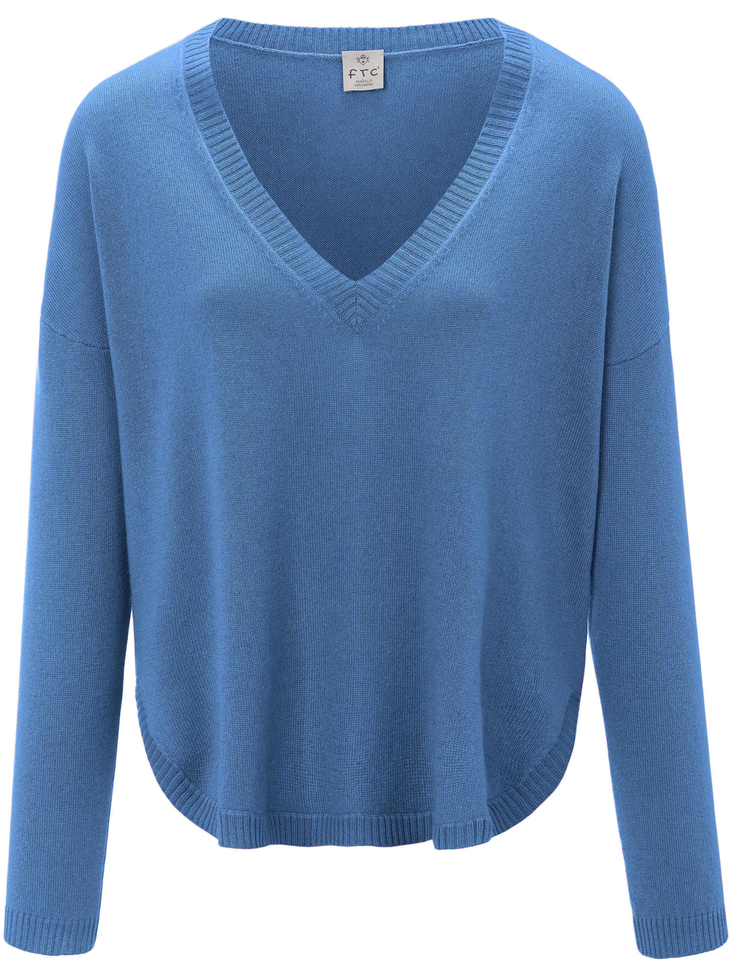 FTC Cashmere V-ringad tröja från FTC Cashmere blå
