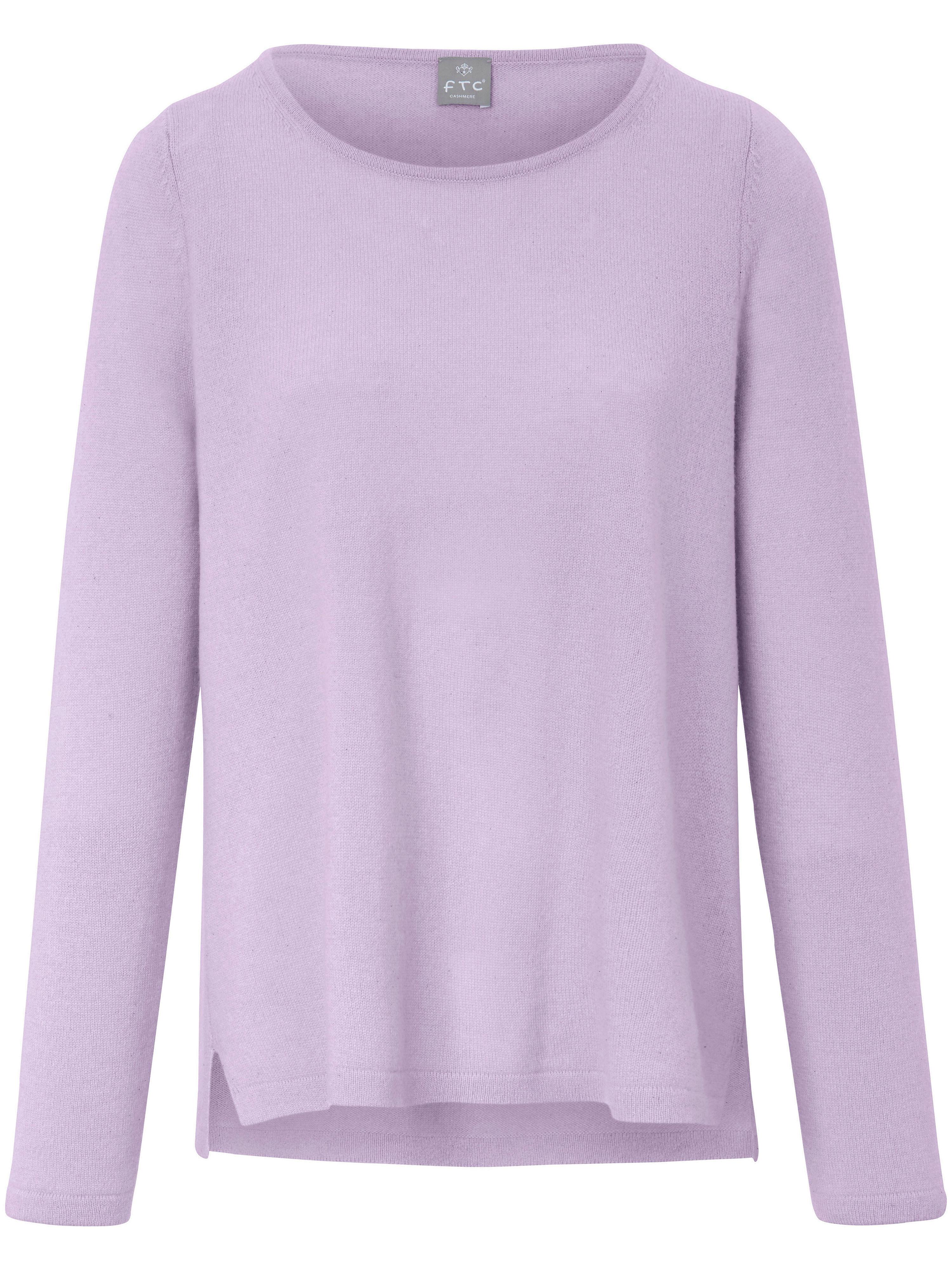 FTC Cashmere Rundhalsad tröja i 100% kashmir från FTC Cashmere lila