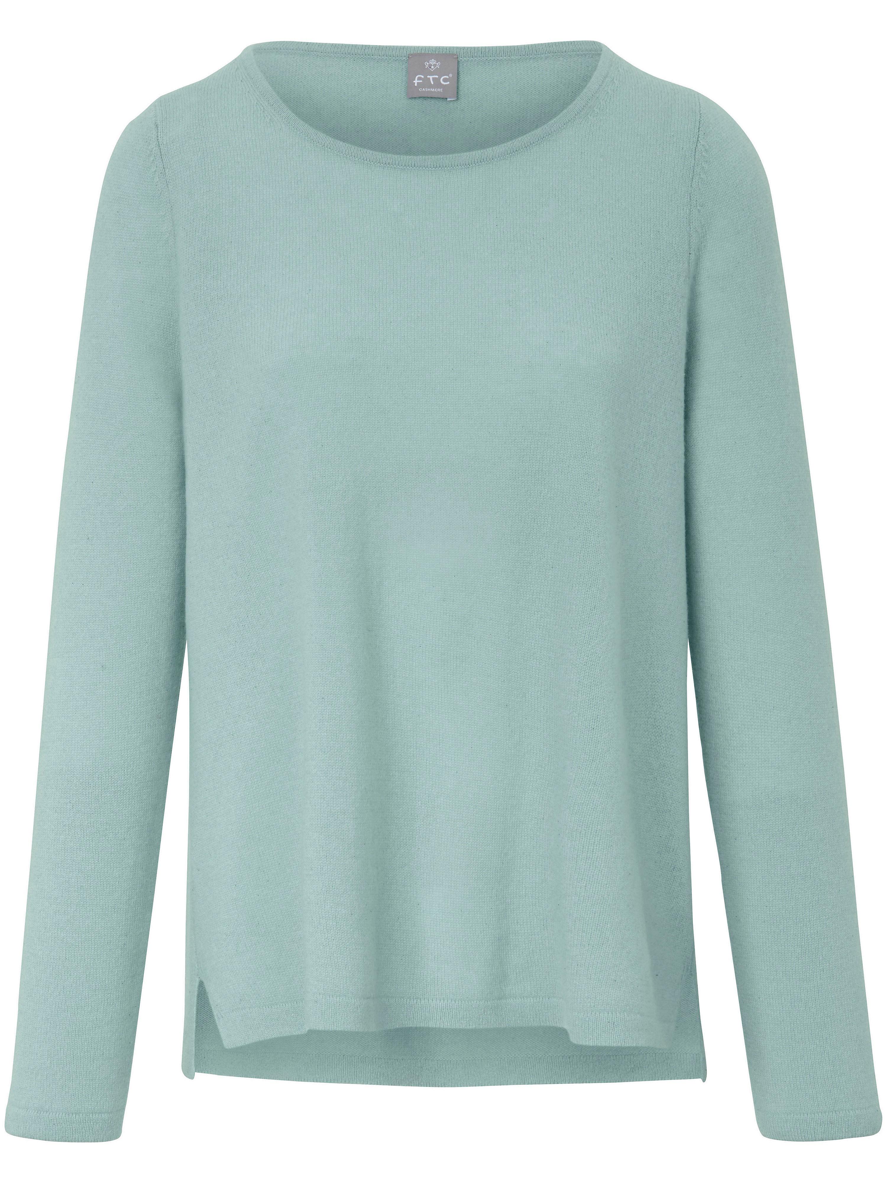 FTC Cashmere Rundhalsad tröja i 100% kashmir från FTC Cashmere grön