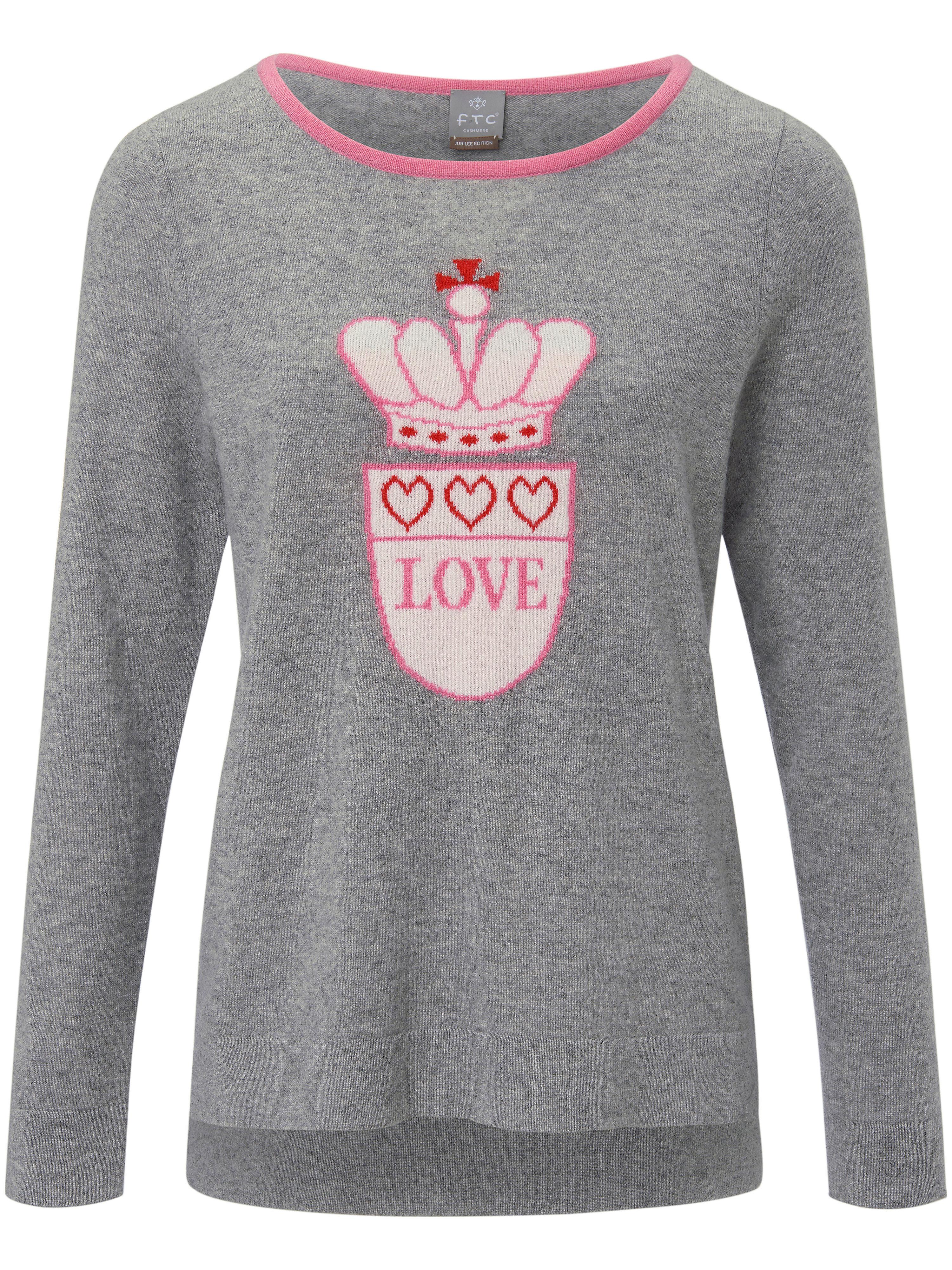 FTC Cashmere Rundhalsad tröja  i 100% kashmir från FTC Cashmere grå