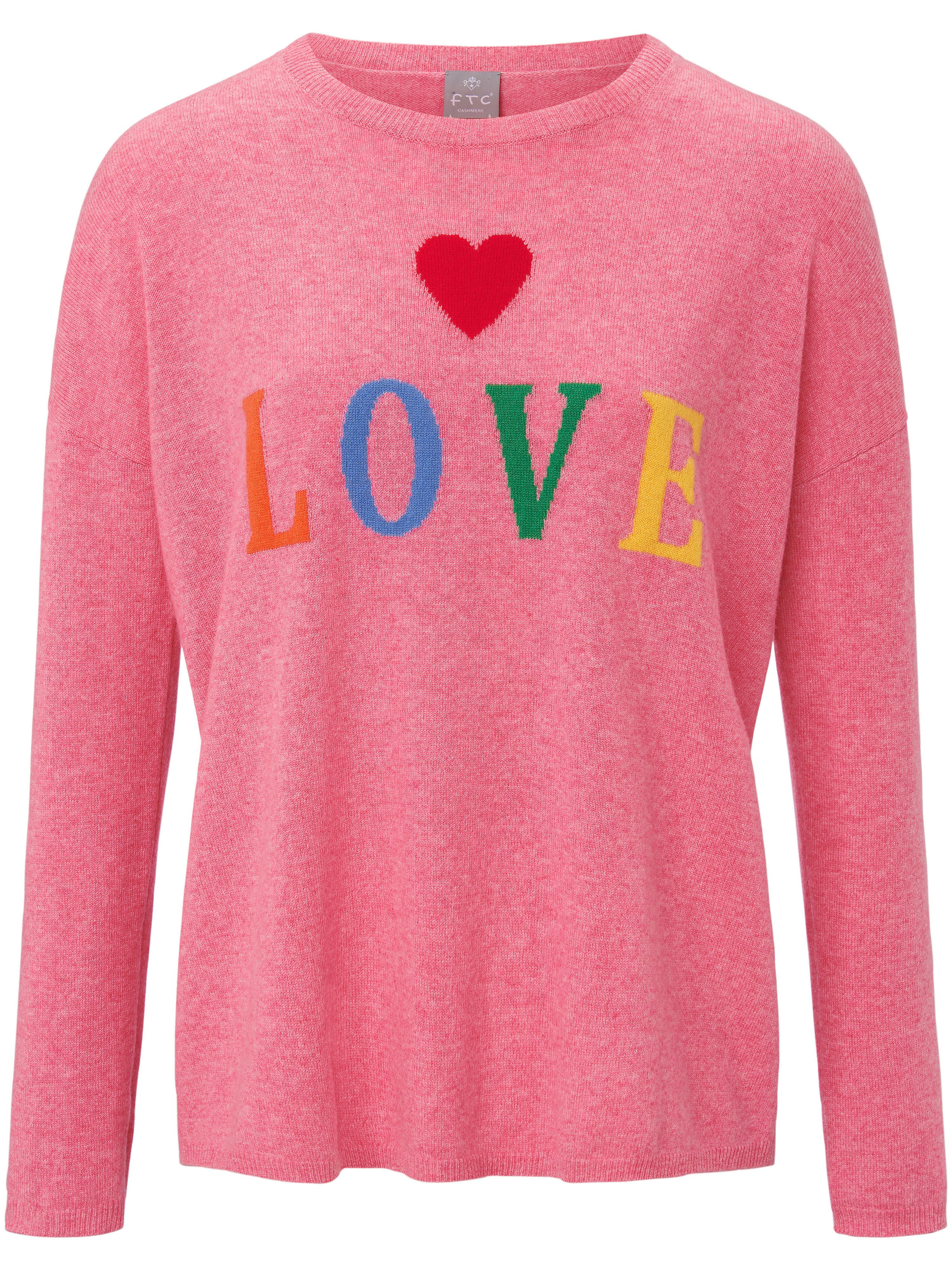 FTC Cashmere Rundhalsad tröja i 100% kashmir från FTC Cashmere cerise