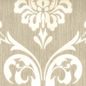DUTCH WALLCOVERINGS Tapet ornament brun och vit 13110-30
