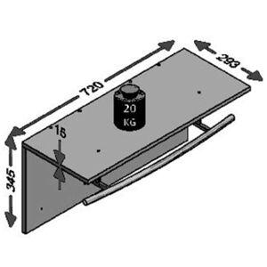 FMD Väggmonterad klädhängare 72x29,3x34,5 cm sand ek