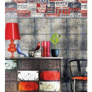 Urban Friends & Coffee Urban Friends & Coffee Tapet affischtavlor blå och röd