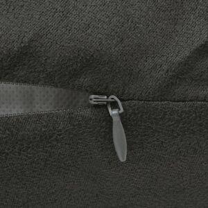 vidaXL Kuddöverdrag 4 st 80x80 cm polyester mockaimitation antracit