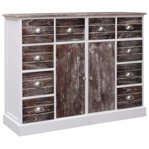 vidaXL Skänk med 10 lådor brun 113x30x79 cm trä