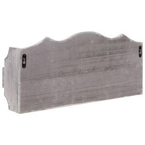 vidaXL Väggkrokar med förvaring grå 50x10x23 cm trä