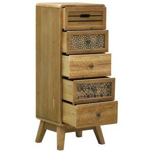 vidaXL Skänk med 5 lådor brun 37x30x97,5 cm trä