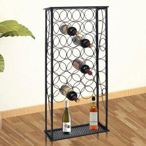 vidaXL Vinställ för 28 flaskor metall