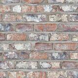 DUTCH WALLCOVERINGS Tapet tegelsten flerfärgad EW3103