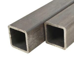 vidaXL Fyrkantsrör 6 st 1m 25mm