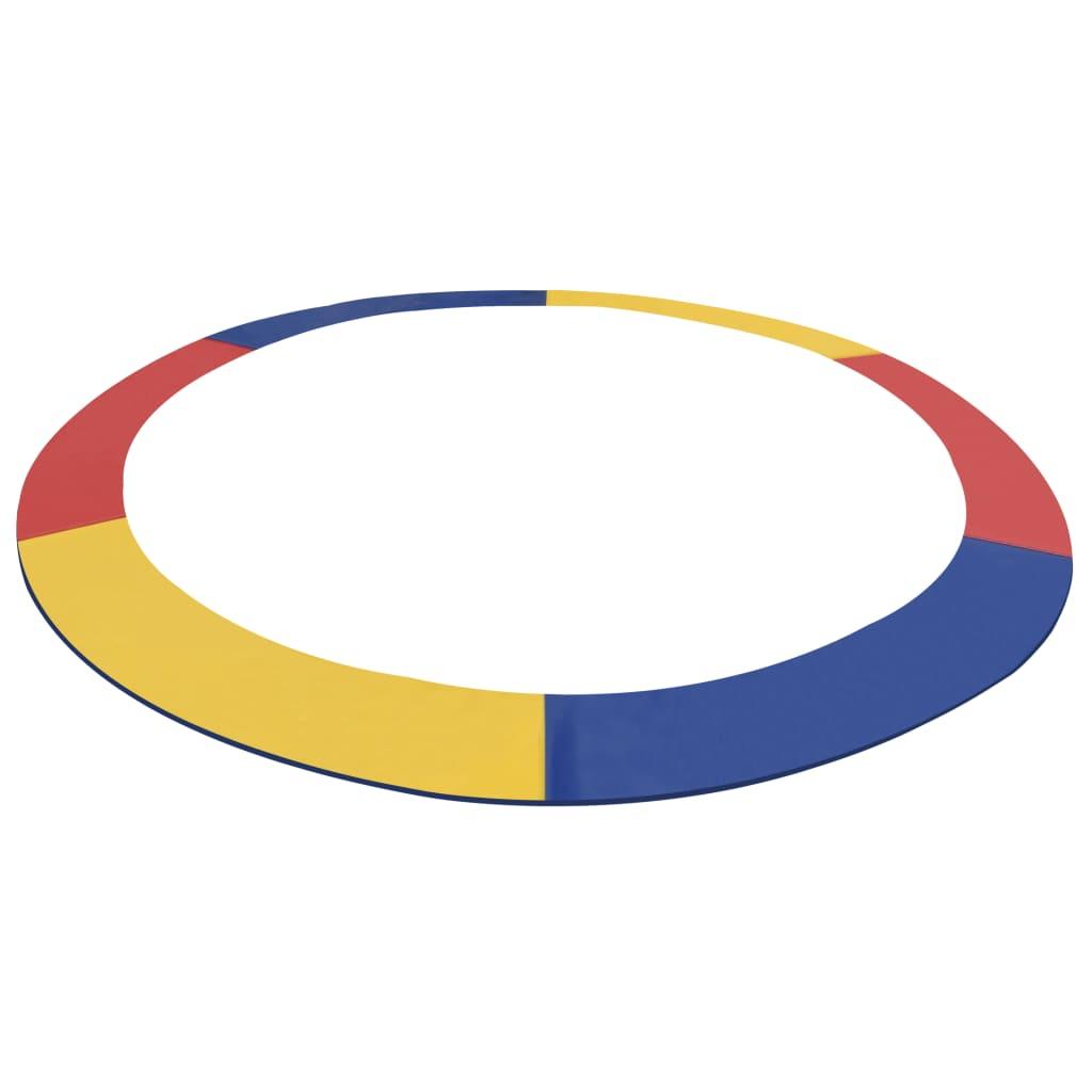 vidaXL Kantskydd PVC flerfärgat för 12 fot/3,66 m rund studsmatta