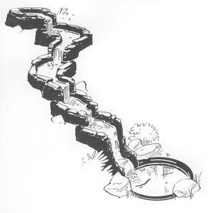 Ubbink Rakt segment för dammvattenfall Colorado Cascade 1312075
