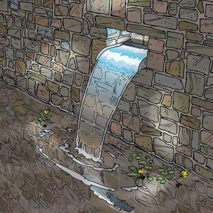 Ubbink Nevada vattenfall 30 cm rostfritt stål kaskad