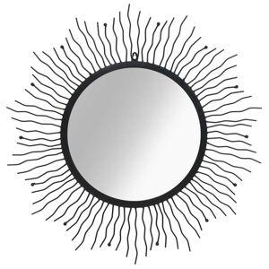 vidaXL Väggspegel sol 80 cm svart