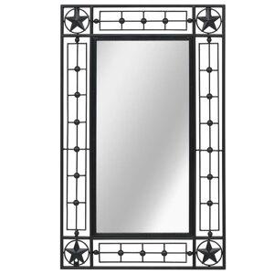 vidaXL Väggspegel rektangulär 50x80 cm svart