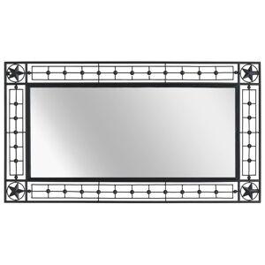 vidaXL Väggspegel rektangulär 60x110 cm svart