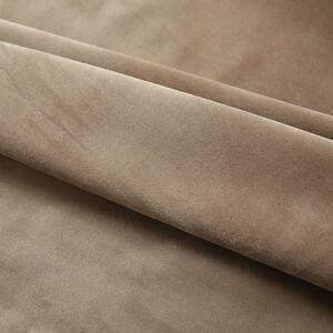 vidaXL Mörkläggningsgardiner 2 st m. krokar sammet beige 140x175 cm