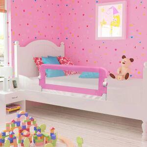 vidaXL Sängskena för barn rosa 120x42 cm polyester