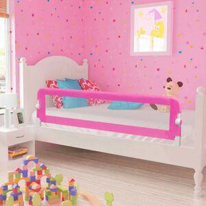 vidaXL Sängskena för barn 2 st rosa 150x42 cm