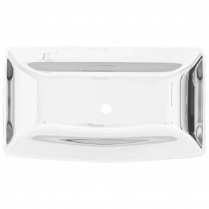 vidaXL Handfat 71x38x13,5 cm keramik silver
