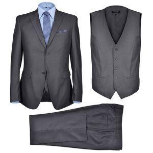 a49968c7e65c Herrkläder vidaXL Tredelad Business Kostym Herrar strl. 46 Antracitgrå