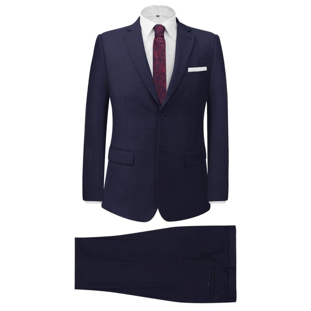 vidaXL Tvådelad kostym herrar marinblå strl. 46