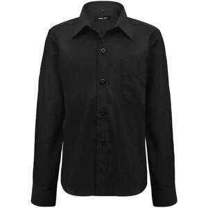 vidaXL Långärmad skjorta Pojke Storlek 116-122 Svart