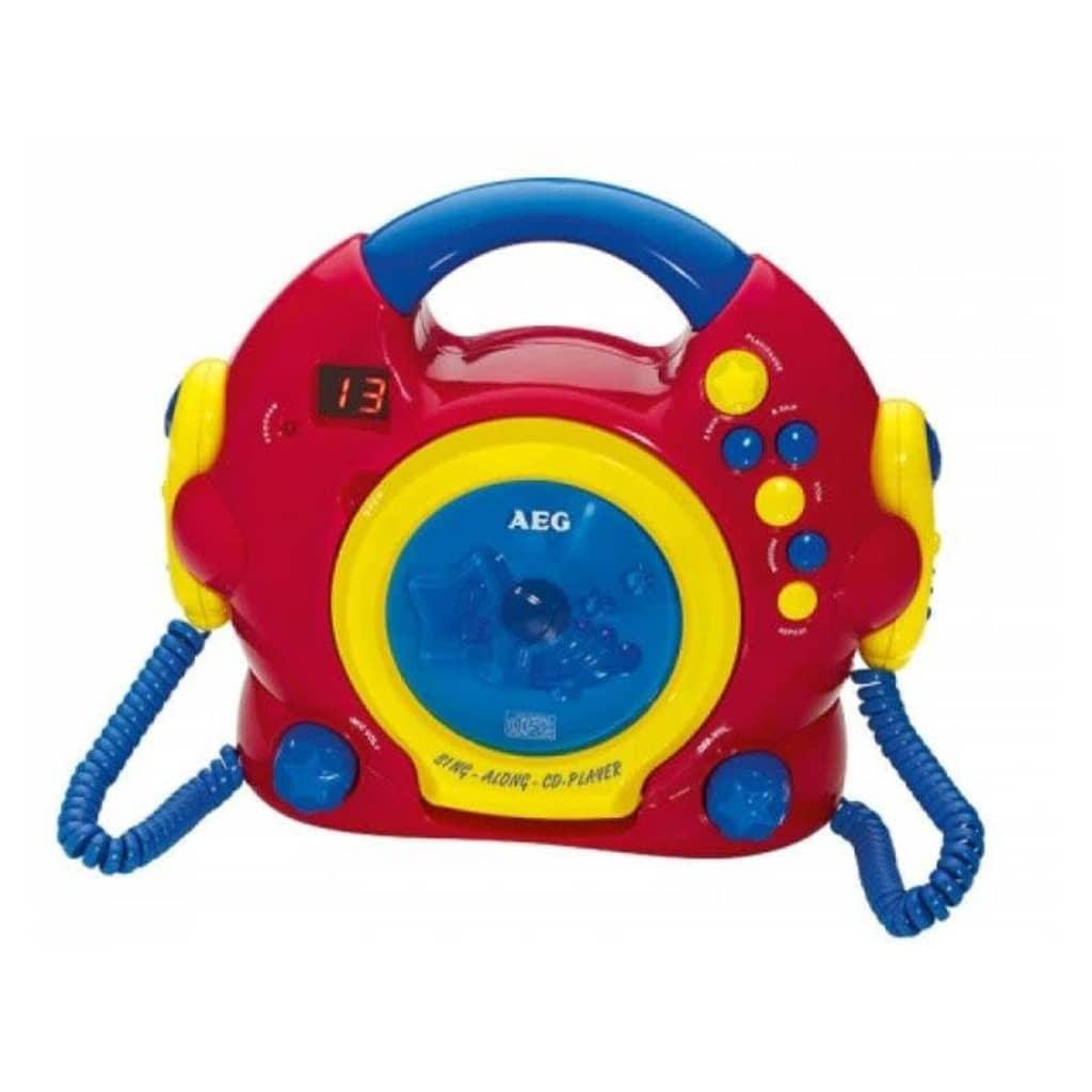AEG Sjung med-CD-spelare CDK 4229 röd