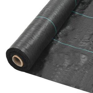 vidaXL Ogräsmatta PP 2x10 m svart