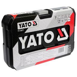 YATO Verktygsset 38 delar metall svart YT-14471